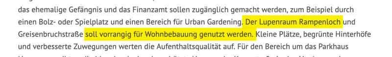 Zitat aus der Pressemitteilung der Stadt Minden zum Rampenloch