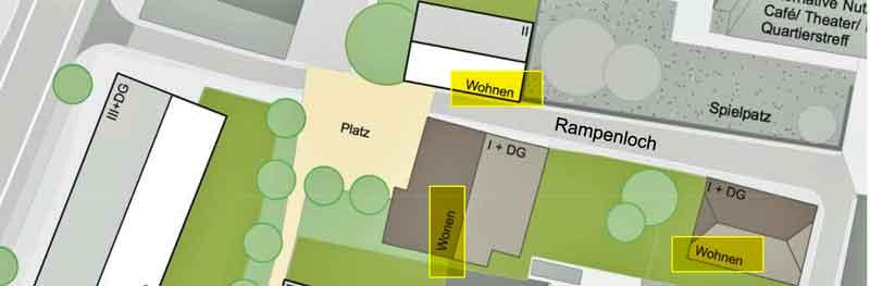 Entwurfsvariante 1 von WoltersPartner, Coesfeld für das Rampenloch