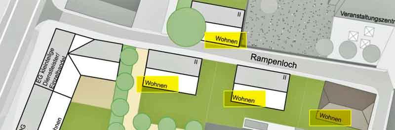 Entwurfsvariante 2 von WoltersPartner, Coesfeld für das Rampenloch