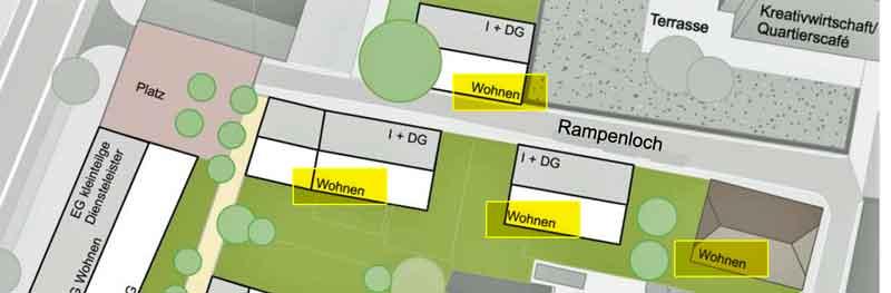 Entwurfsvariante 3 von WoltersPartner, Coesfeld für das Rampenloch