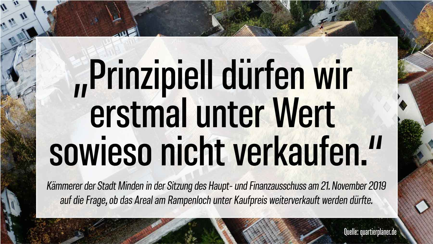 Statement des Stadtkämmerers der Stadt Minden zum Rampenloch-Verkauf