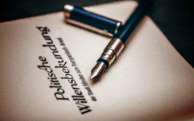 Unterschriftsreif: Die politische Willensbekundung, die die Stadt Minden nicht fertigbrachte